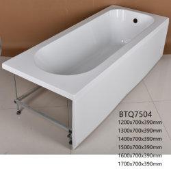 Retângulo de acrílico banheira com saia (BTQ7504)