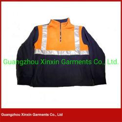 Куртка ватки безопасности померанцовая голубая работая с отражательной полосой на зима (W62)