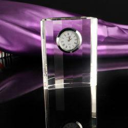 透過正方形の形の水晶時計及び結婚祝い