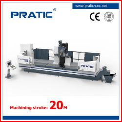 Profilo di alluminio che macina, perforare, tagliente la macchina di CNC