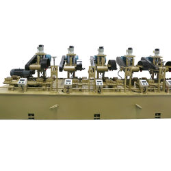 Auto-Press Aço inoxidável / aço carbono do tubo redondo máquina de polir
