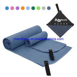 Индивидуальный логотип напечатано Быстрый сухой переработанных ткань из микроволокна спорт зал полотенце с магнитным оптовая торговля