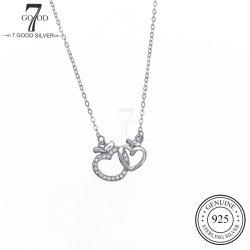 OEM の注文の方法 925 の銀の宝石類のネックレスは TTWO の中心と 魅力