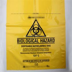 Полимерная пластиковые PP биологического одноразовый мешок Autoclavable аварийной сигнализации для больницы