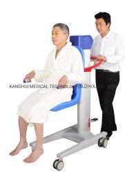 팔걸이를 가진 파란 색깔 4 바퀴 배려 샤워 목욕탕 공구 이동 참을성 있는 의자