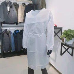 La certification de 300000 pièces de stock de consommation non médicale de l'isolement vêtements jetables