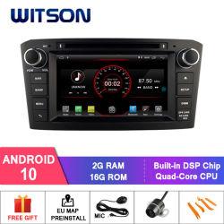 Witson Android 10 автомобильное радио DVD GPS для Toyota Avensis 2005-2007 2g оперативной памяти DDR3 через аудиосистему автомобиля