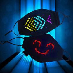 LED Programmable Custom USB oplaadbare, gloeiende, lumineuze gezichtsherkadering