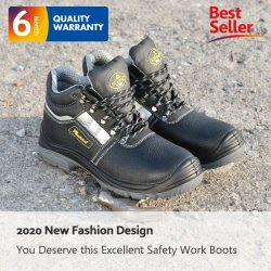 CE 認定中古の作業安全靴(男性および女性向け)、本革オイル抵抗安全靴メーカー(産業用メンズ)