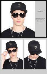 Wholesalse plana Publicidad Promoción de la tapa de Deporte Sombreros y Gorras de Hiphop Logotipo de la etiqueta de metal personalizados Pac Hat