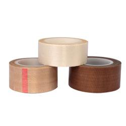El aislamiento de PTFE anti-adherente de fibra de vidrio resistente al agua un paño de tela de vidrio de 300 grados de calor de silicona cinta Tefloning sellado 0.05