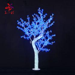 Navidad decoración de bodas artificiales de lujo de cerezo con luces LED