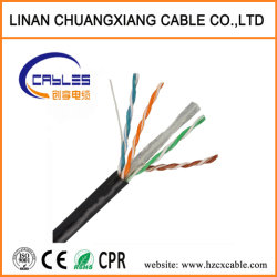 23AWG Alambre de cobre UTP/FTP CAT6 LSZH de PVC de cable de red.