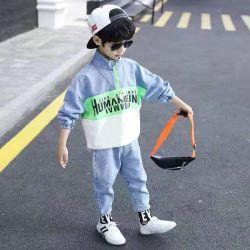 Au printemps et automne Costume d'enfants Boys' Denim de nouveaux vêtements respirants vêtements de mode de loisirs