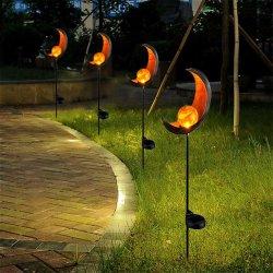 옥외 문 크래클 글래스 글로브 메탈 스테이크 패스웨이 장식 태양열 워크웨이 야드 론 파티오의 정원 조명