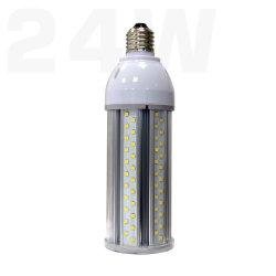 LED High Power Garden Street Bollard Lاللمبة E27 E40 24 واط مصباح LED للالذرة