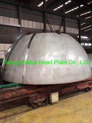 Acero inoxidable S31603 Cabeza plato reflector hemisférico cabeza hueca 3500*60mm hecha por segmento y pétalos formando para la industria de petróleo y gas recipiente a presión...