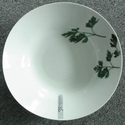 Livro Branco artesanais de cerâmica redonda pratos Jantar Fabricação na China