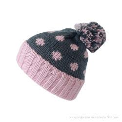 Moda Inverno Acrílico Islândia Lã de fios Tecidos Jacquard Beanie Hat Cap