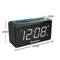 La mode Mini Desktop Azan Réveils Horloge de bureau d'éclairage allumé Digital