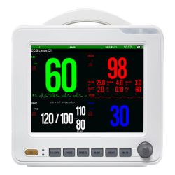 جهاز مراقبة المرضى Sinnor Snp9000L بحجم 8.4 بوصات قياسي بحجم 5PARA من نوع Bedside مع ملحقات كاملة