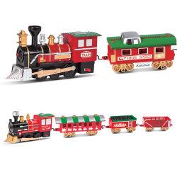 La riduzione Tempo-Limitata di prezzi, il treno elettrico della guida di natale, con gli indicatori luminosi e le caratteristiche di musica, montano il giocattolo