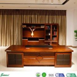 Muebles de oficina de estilo antiguo de la Oficina superior de cuero con mesita móvil