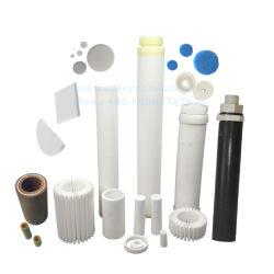 Wit Blauw Kleur geweven poreus polyethyleen HDPE-harsfilter voor Spoel/buis/pijp/schijven/stangen/Kaarsen/platen Air Gas Foamer