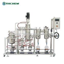Acero inoxidable Sistema de destilación molecular para la extracción de aceite esencial de la CDB evaporador de película delgada de película delgada destilación agitado evaporador de película fina