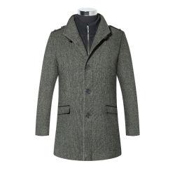 Suporte de Lã Tweed britânico OEM Camada Colar para homens