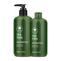 OEM Custom Private Label Wholesale Luxe schuimend argan Oil Sulfaat Gratis Clear Liquid Organic Green Tea Tree haarshampoo