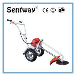 Serviço Pesado 2 Inj mão empurre a Gasolina Gasolina Cortador de escova com 2 rodas
