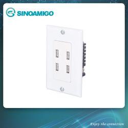 전동식 USB 충전기(전기 스위치 벽 소켓 포함