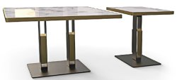 Mesa de acero personalizada de la Base de piezas de mobiliario de restaurante Modern mesa de comedor mesa metálica piernas