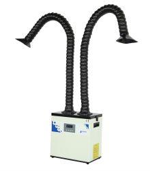 두 개의 독립형 암이 있는 PURE-Air PA-300TD-IQ 디지털 납땜 연기 진공기
