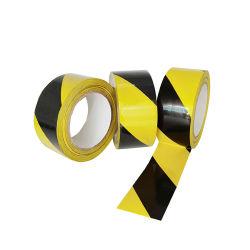 Gelbes und schwarzes PVC-Markierband für den Boden, hohe Leistung für den Innenbereich Unterirdisch