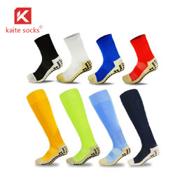 Sports sobre o joelho meias de Alta Aderência Socks Logotipo Futebol meias de futebol