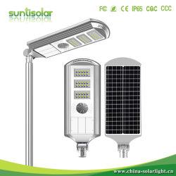 옥외 원격 제어 강력한 태양 LED 플러드 빛을%s 가진 높은 광도 센서 SMD에 의하여 강화되는 건전지 안전 램프 30W 40W 50W 60W