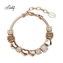 Regelbare Armband van de Charmes van het Hart van de Liefde van het Kristal van Oostenrijk van de premie de Goud Geplateerde Stralende voor Vrouwen