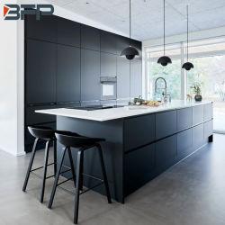 Clássico Estilo Dinamarquês porta preta Armários de cozinha moderno mobiliário de cozinha