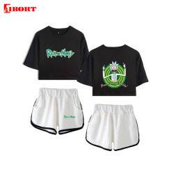 Установите Aibort моды Лето короткое замыкание втулки верхней части культуры+коротких замыканий модной Streetwear
