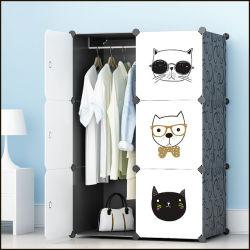 居間DIYのプラスチックFoldable携帯用戸棚のワードローブ