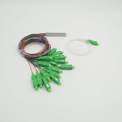 ファイバーの光学ディバイダーSc/APCの小型管のタイプFTTH 0.9mmの単一モードのコネクター1*16 PLCのディバイダー