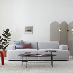 Sofà domestico moderno del tessuto del salone dello strato della sede di Grey 3 della mobilia di Foshan