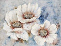 Pitture a olio della tela di canapa del fiore incorniciate decorazione domestica all'ingrosso