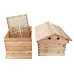 Китайский Wax-Coated кедра дерева Автоматическая Self-Flowing пчелы улей и 7 Авто кадры Пчеловодство Пчеловодство оборудование инструмент котором жизнь бьет ключем