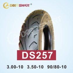 中国の卸し売り安いタイヤ350 10顕著なパフォーマンス人力車のタイヤのサイズ3.50-10パターンDs257チューブレスオートバイのタイヤ
