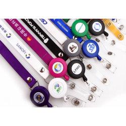 Personalizar el molinete Collar cordón retráctil de tirar el cordón de la tarjeta de ID.