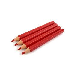 """Plástico corto de 3,5"""" a los niños dibujar lápices de colores rojo grueso"""