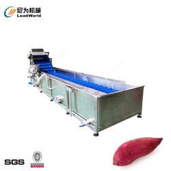 자동 음식 기계 과일 및 야채 거품 씻기 뿌리 과일 감자 고구마 생강 순무 연근당근 청소용 머신 장비